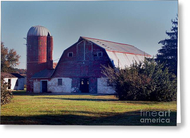 Dairy Barn Greeting Card by Skip Willits