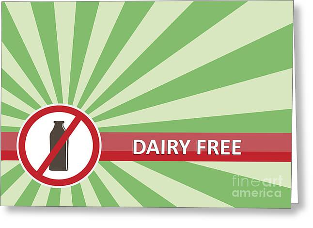 Dairy Free Banner Greeting Card