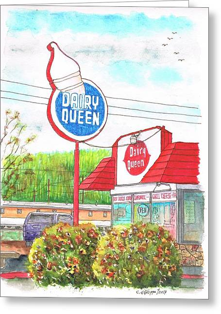 Dairy Queen In Route 66, Williams, Arizona Greeting Card