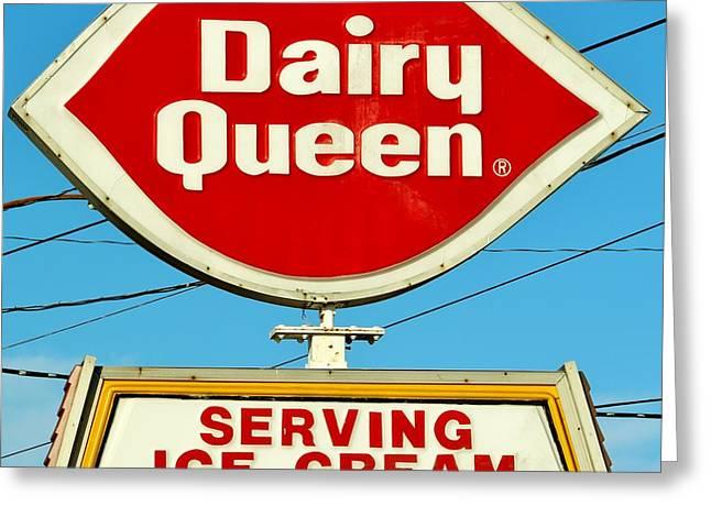 Dairy Queen Sign Greeting Card by Cynthia Guinn