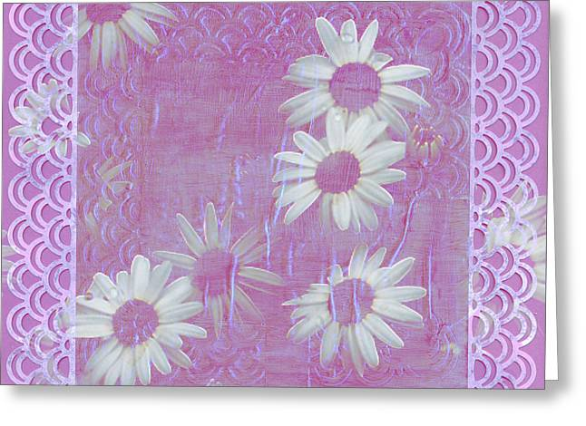 Greeting Card featuring the photograph Daisies And Paper Lace by Sandra Foster
