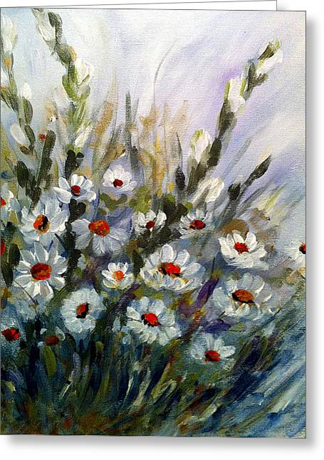 Daisies Greeting Card by Dorothy Maier