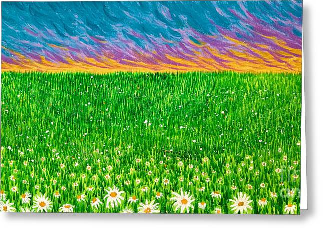 Daisies In The Park Greeting Card by Jo-Anne Elniski