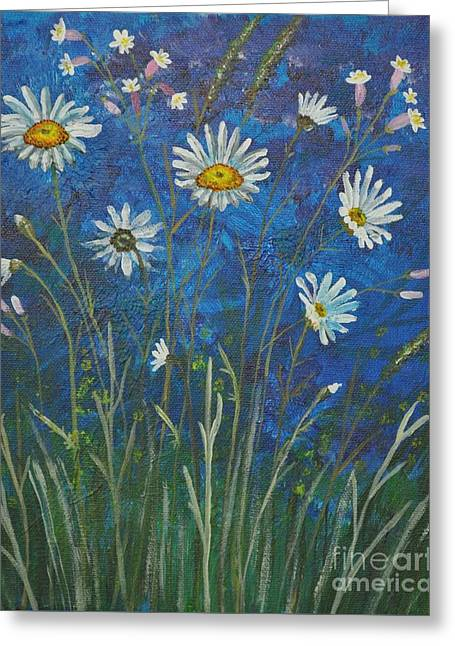 Daisies Greeting Card by Sally Rice