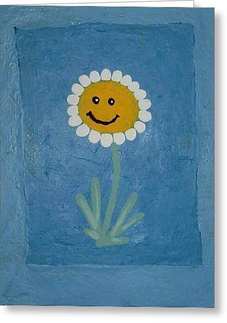 Daisy Doodle  Greeting Card by Yvonne  Kroupa