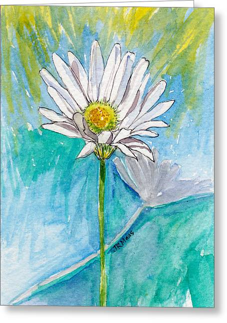 Greeting Card featuring the painting Daisy Expression by Julie Maas
