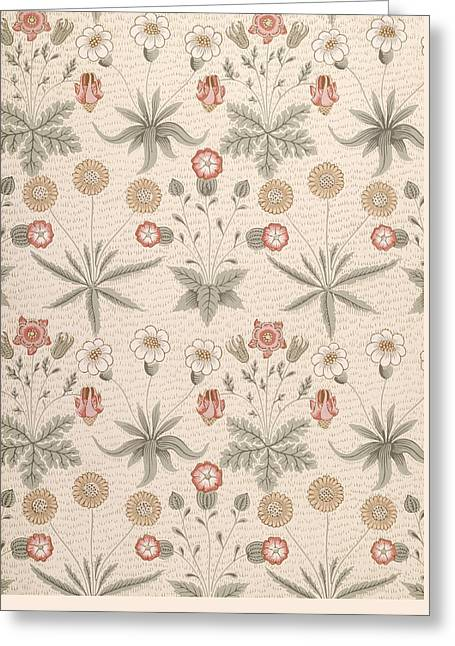 Daisy, First William Morris Design Greeting Card by William Morris