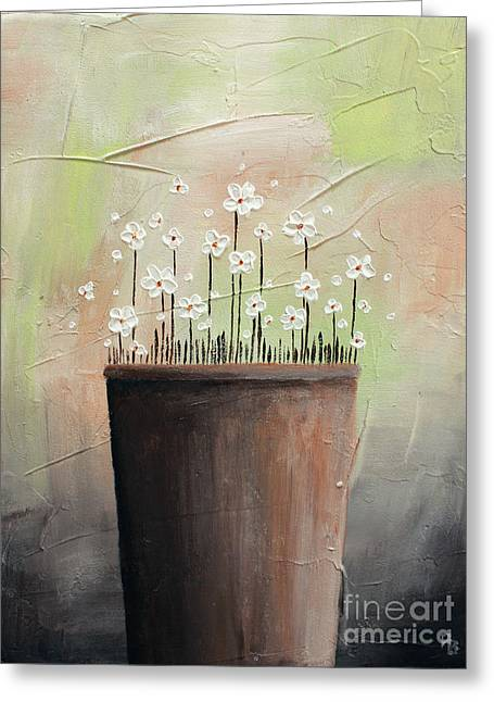 Daisy In Pot2 Greeting Card