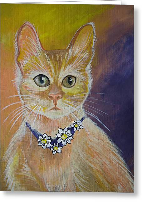 Daisy Greeting Card by Leslie Manley