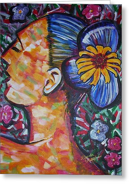 Daisy Greeting Card by Linda Vaughon