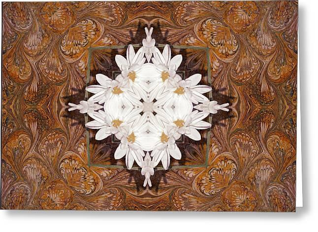 Daisy Pattern Mandakal - L0103b Greeting Card