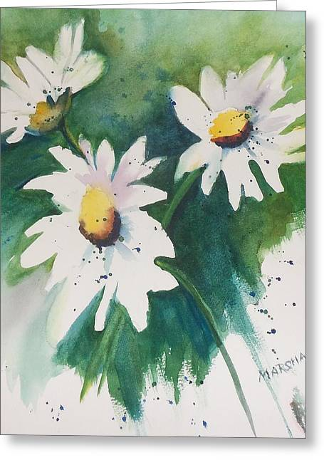 Daisy Print Greeting Card