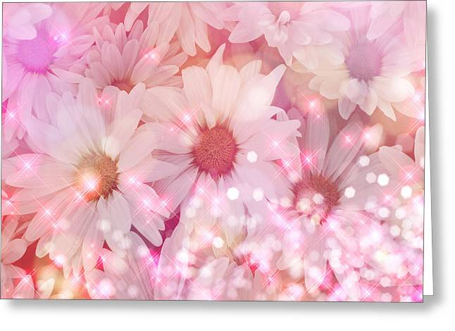 Daisy Sparkles Greeting Card by Debra  Miller
