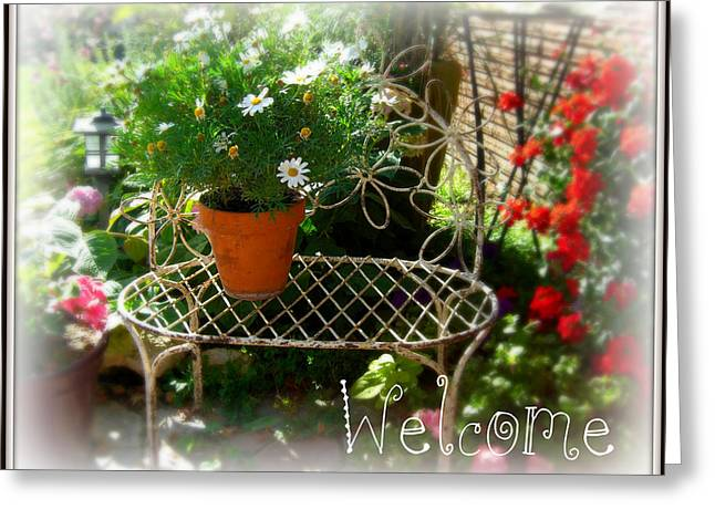 Greeting Card featuring the photograph Daisy Welcome by Heidi Manly