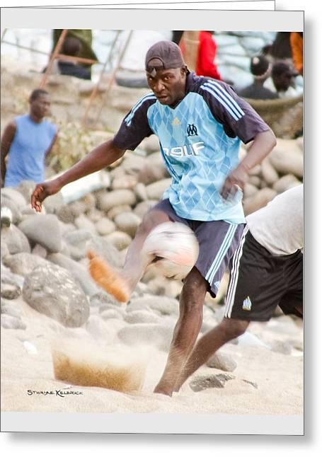 Dakar's Beach Soccer Greeting Card by Stwayne Keubrick