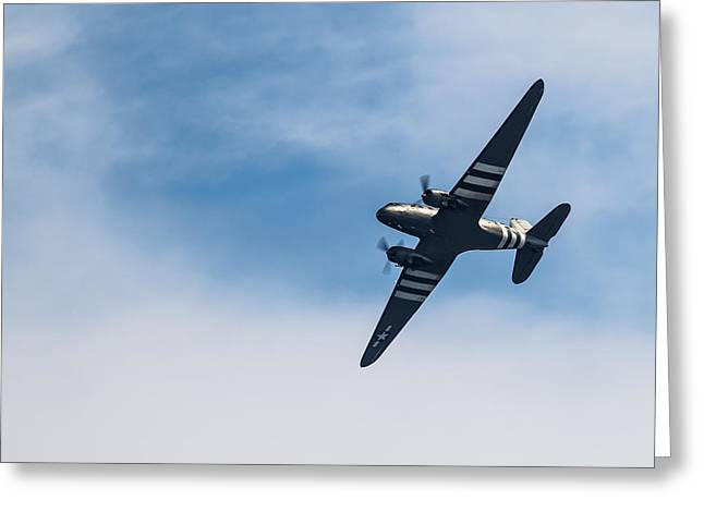 Greeting Card featuring the photograph Dakota D-day Markings by Scott Lyons
