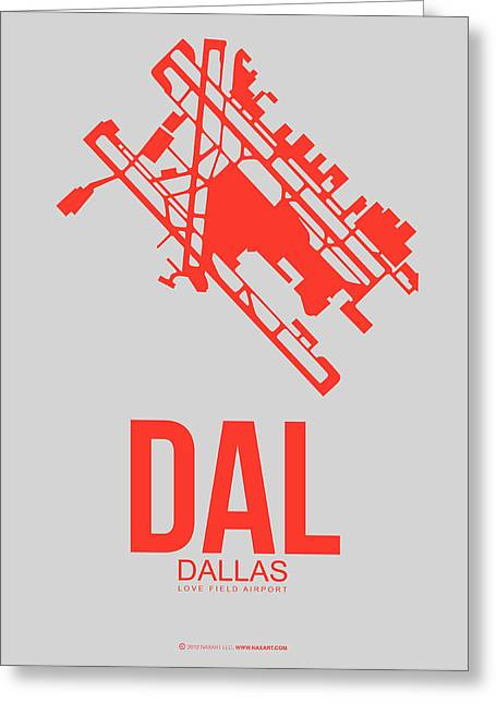 Dal Dallas Airport Poster 1 Greeting Card by Naxart Studio