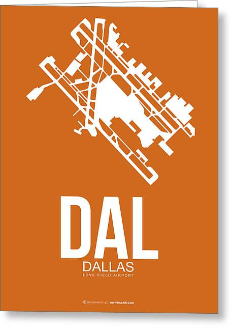 Dal Dallas Airport Poster 2 Greeting Card by Naxart Studio