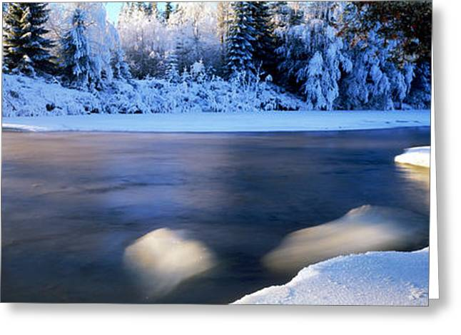 Dal River In Winter, Dalarna Province Greeting Card