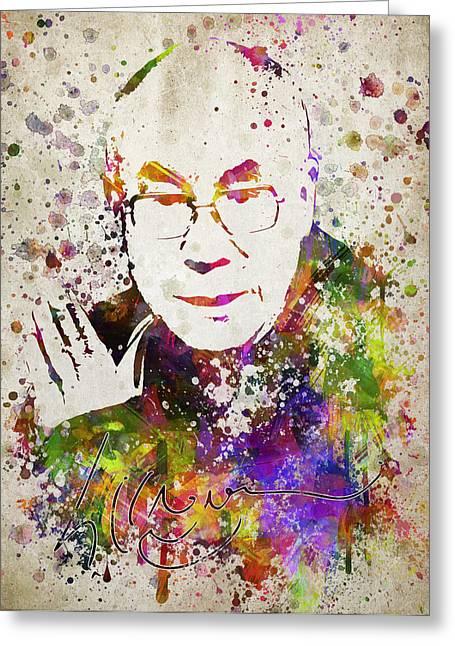 Dalai Lama In Color Greeting Card