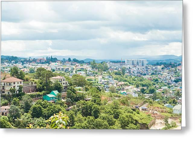 Dalat City View Vietnam Greeting Card by Nikita Buida
