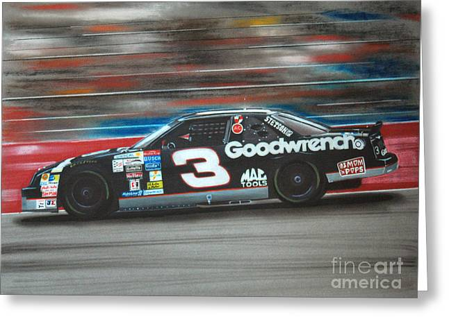 Dale Earnhardt Goodwrench Chevrolet Greeting Card by Paul Kuras