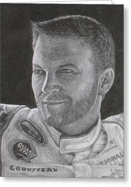 Dale Earnhardt Jr. 2 Greeting Card by Rick Yanke