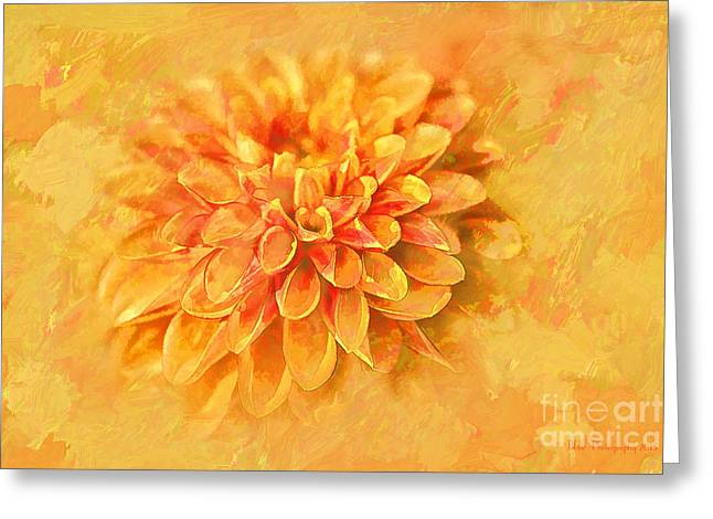 Greeting Card featuring the photograph Dalhia Abstract by Linda Blair