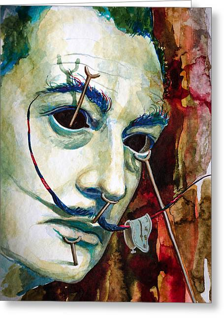 Greeting Card featuring the painting Dali 2 by Laur Iduc