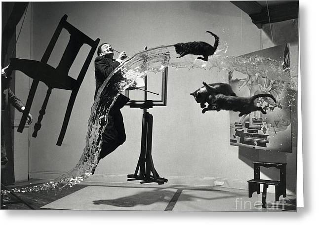 Dali Atomicus (1948) Greeting Card by Library Of Congress
