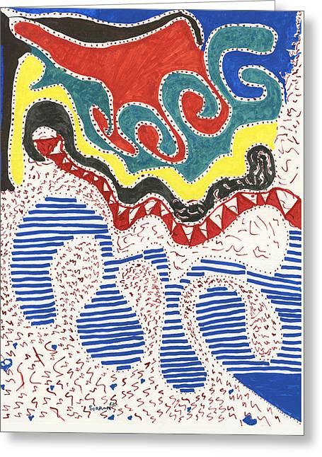 Dali Like Greeting Card by Sirron Kyles