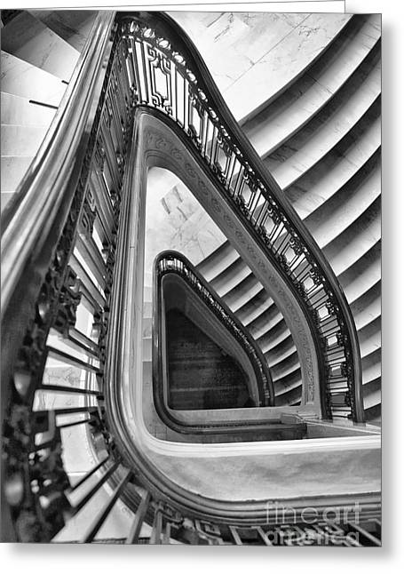 Dali Stairs Greeting Card by Kate McKenna