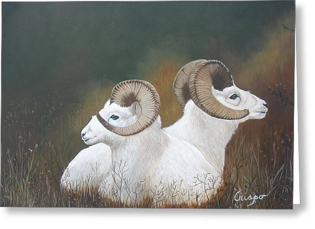 Dall Rams Greeting Card