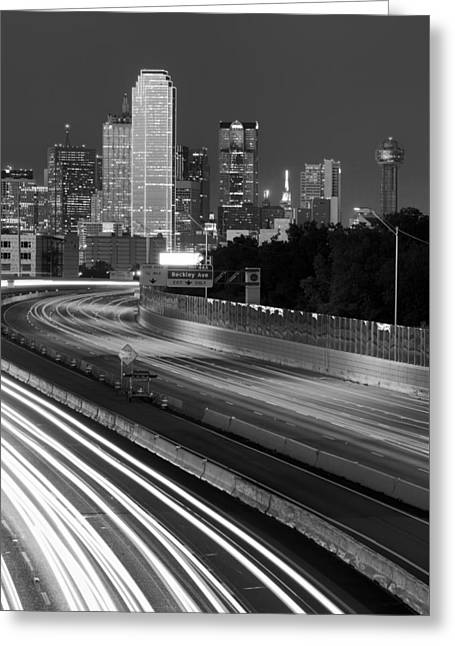 Dallas Arrival Bw Greeting Card