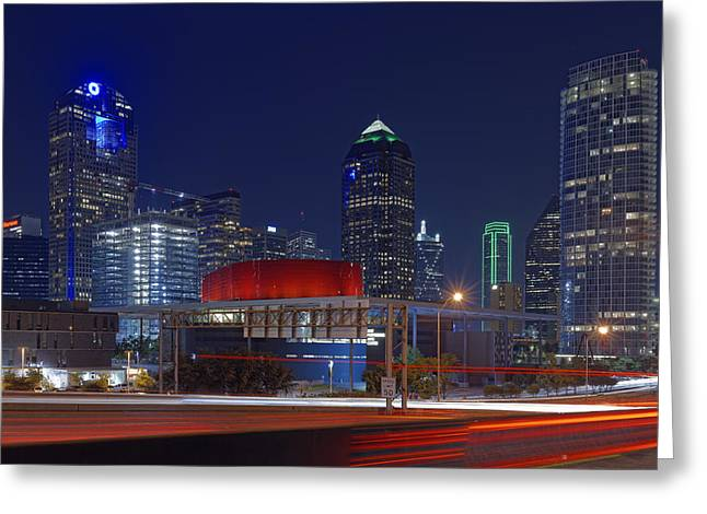Dallas Arts District At Night Hd Greeting Card by Jonathan Davison