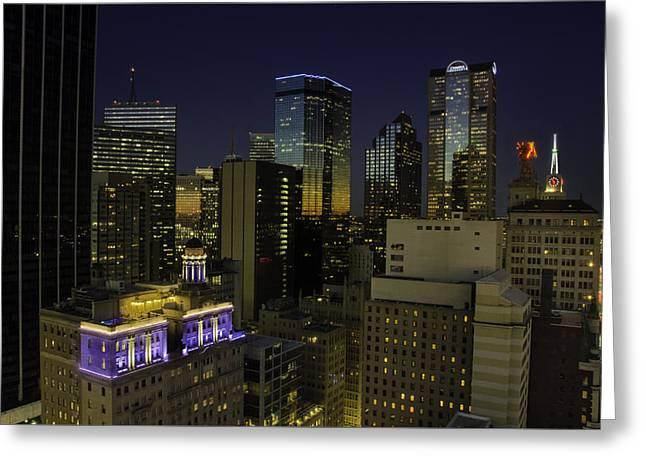 Dallas Cityscape Greeting Card