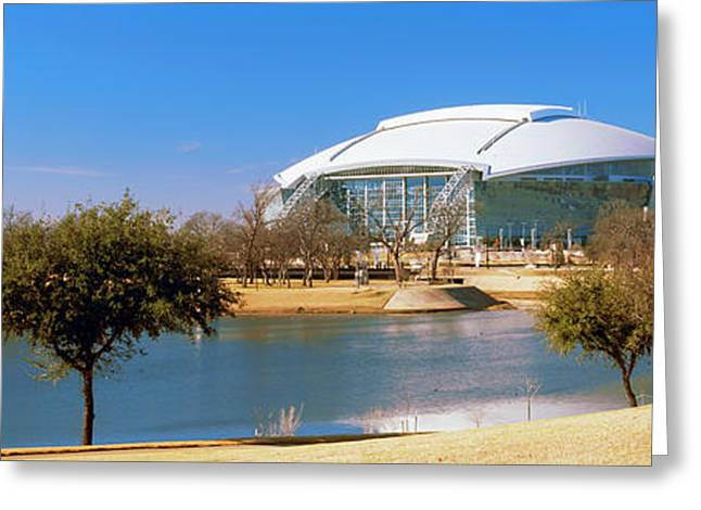 Dallas Cowboy Stadium Greeting Card by Panoramic Images