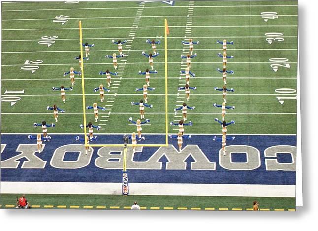 Dallas Cowboys Cheerleaders Greeting Card by Donna Wilson