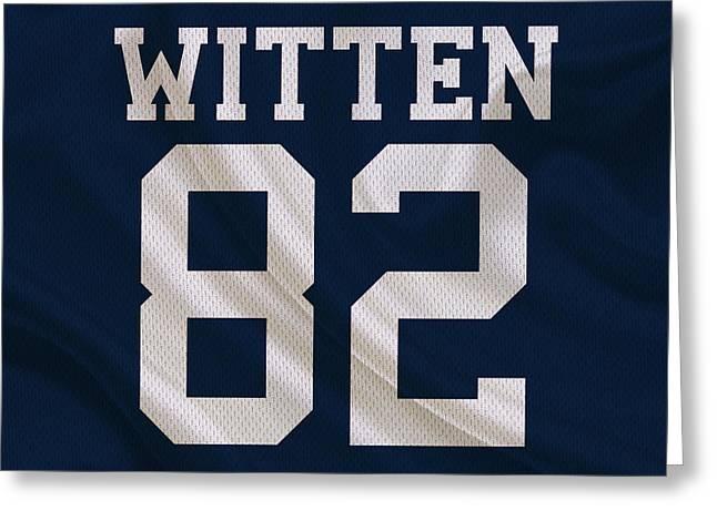 Dallas Cowboys Jason Witten Greeting Card by Joe Hamilton