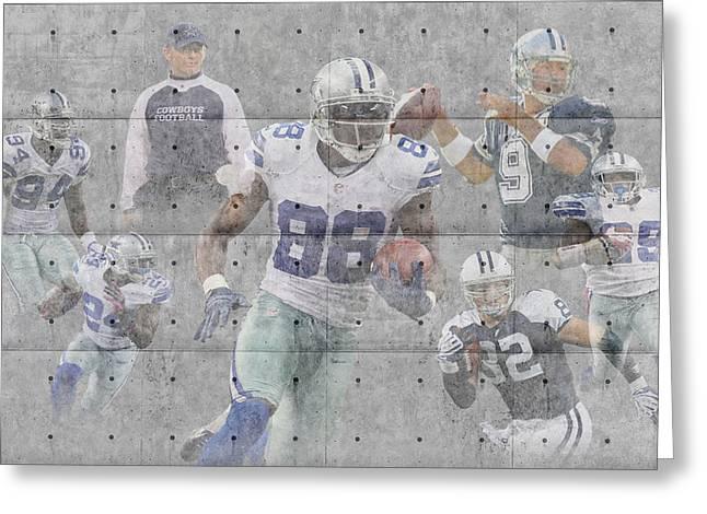 Dallas Cowboys Team Greeting Card by Joe Hamilton