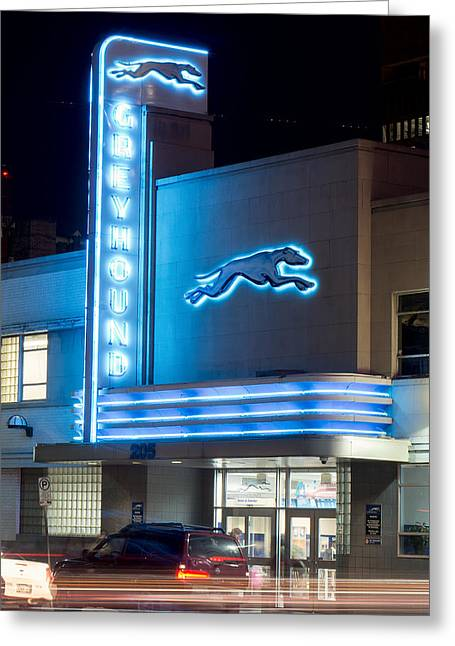 Dallas Greyhound V2 020915 Greeting Card
