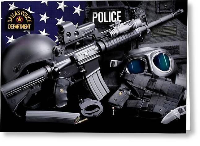 Dallas Police Greeting Card by Gary Yost