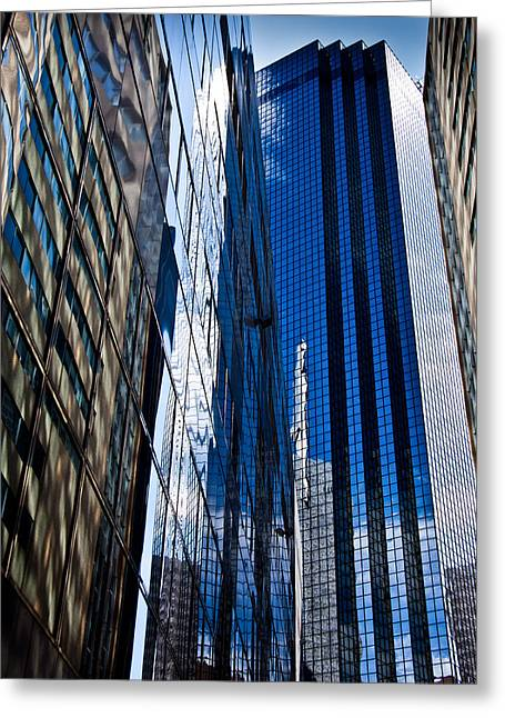 Dallas Reflections Greeting Card by Mark Alder