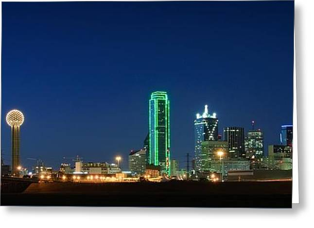 Dallas Skyline Greeting Card by Charles Dobbs