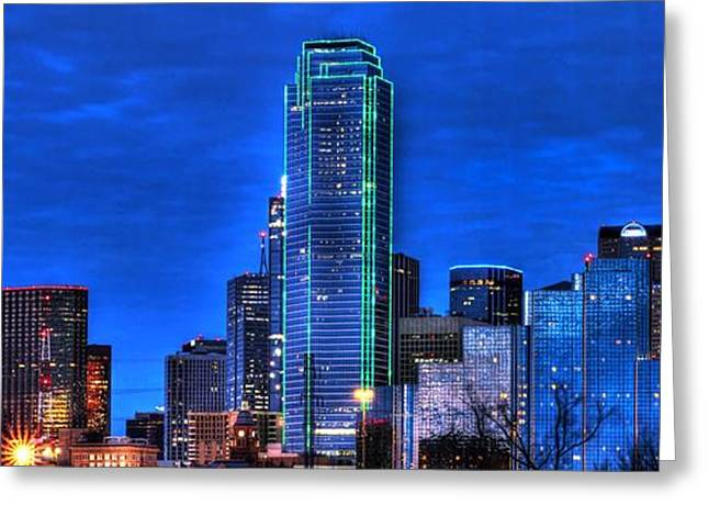 Dallas Skyline Hd Greeting Card