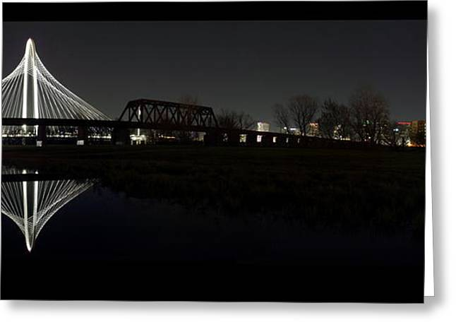 Dallas Skyline Hunt Bridge Color Greeting Card