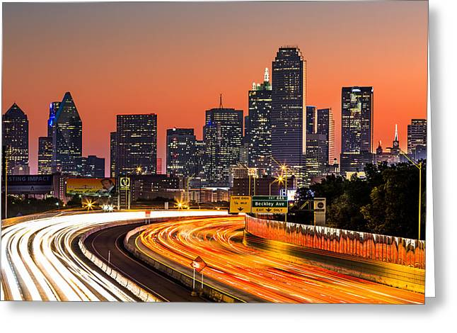 Dallas Sunrise Greeting Card