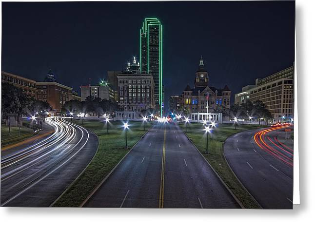 Dallas West End At Night Greeting Card