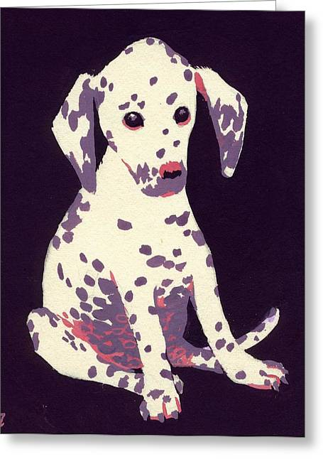 Dalmatian Puppy Greeting Card by George Adamson
