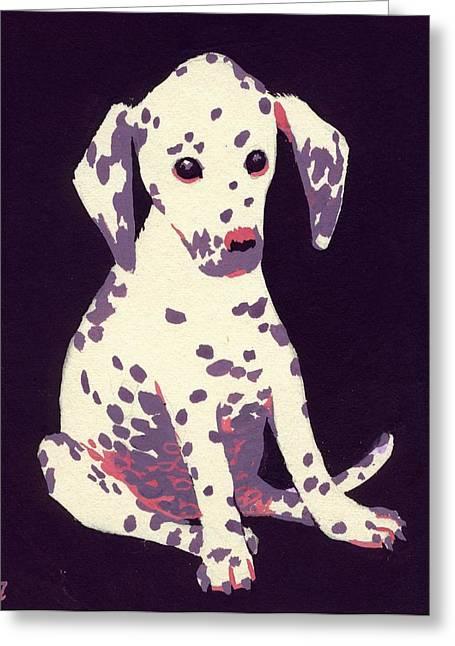 Dalmatian Puppy Greeting Card by George Adamson